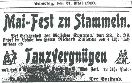 Anzeige 1910