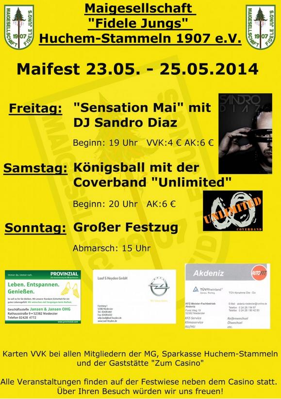 Plakat Maifest 2014