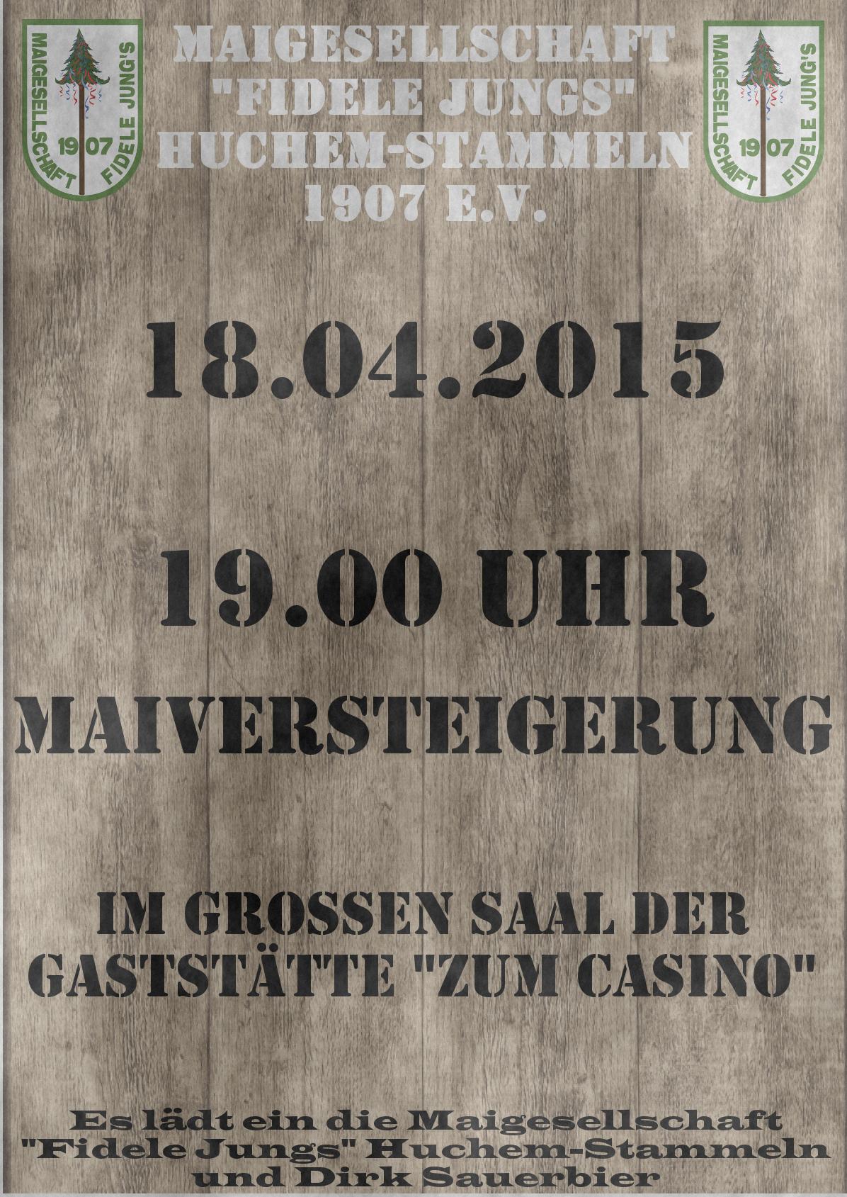 Plakat Versteigerung 2015